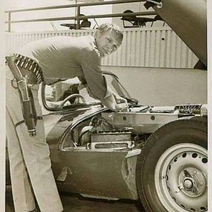 Steve McQueen With Jag