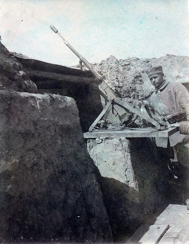 Gew98 With Rifle Grenade In Trench